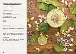 Rezept Spinat-Sprossen-Zitrus-Shake