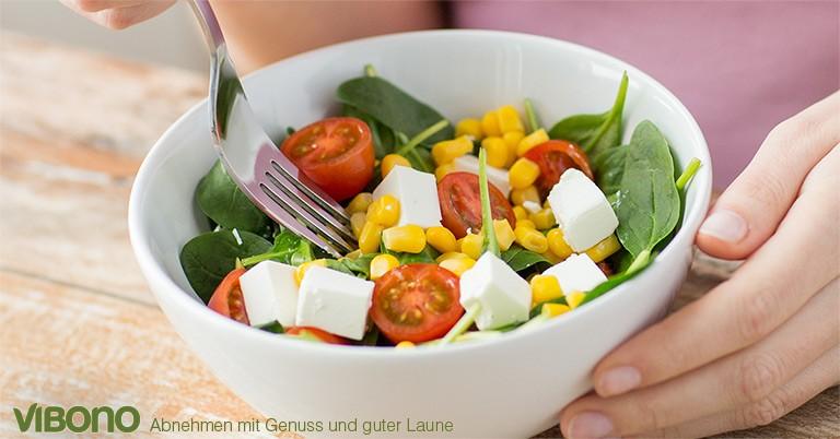 Mit Salat schneller satt werden