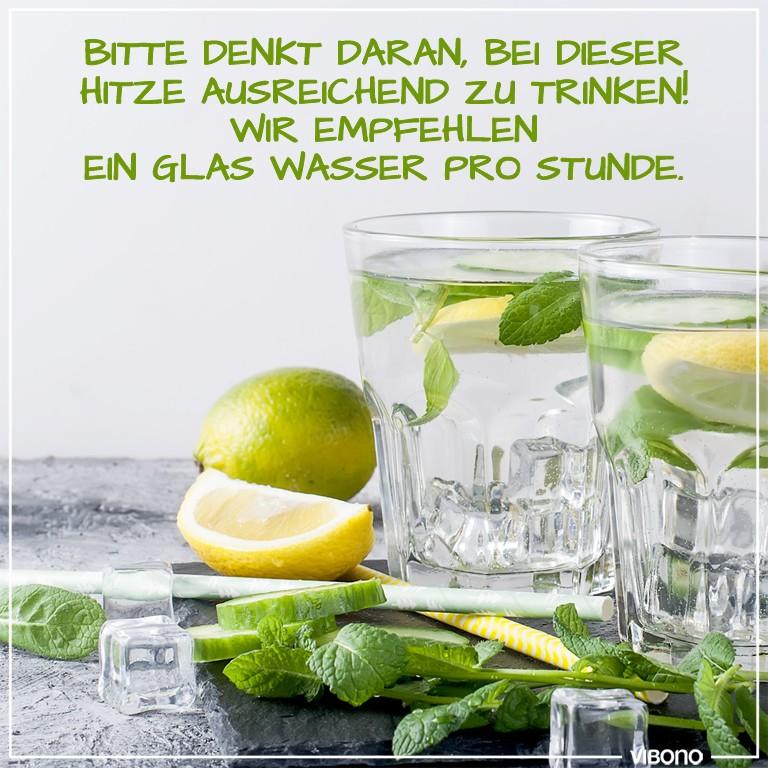 Nicht vergessen: Ausreichend trinken!