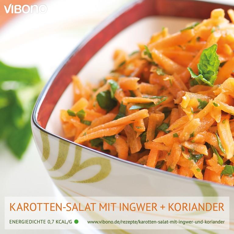 Karotten-Salat mit Ingwer und Koriander