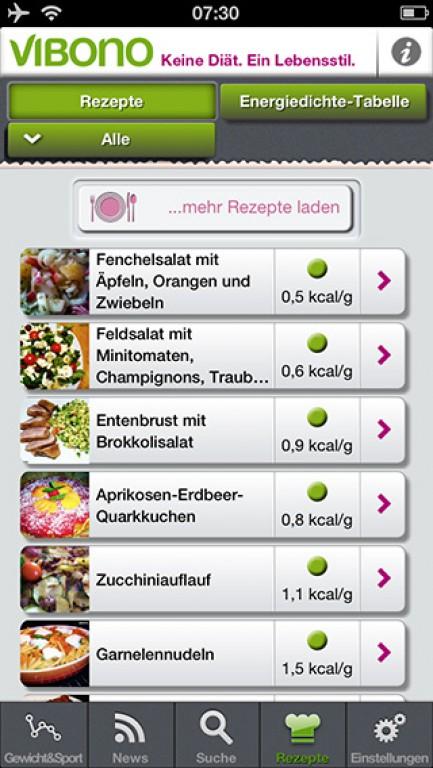 Schlank essen mit der Vibono-App