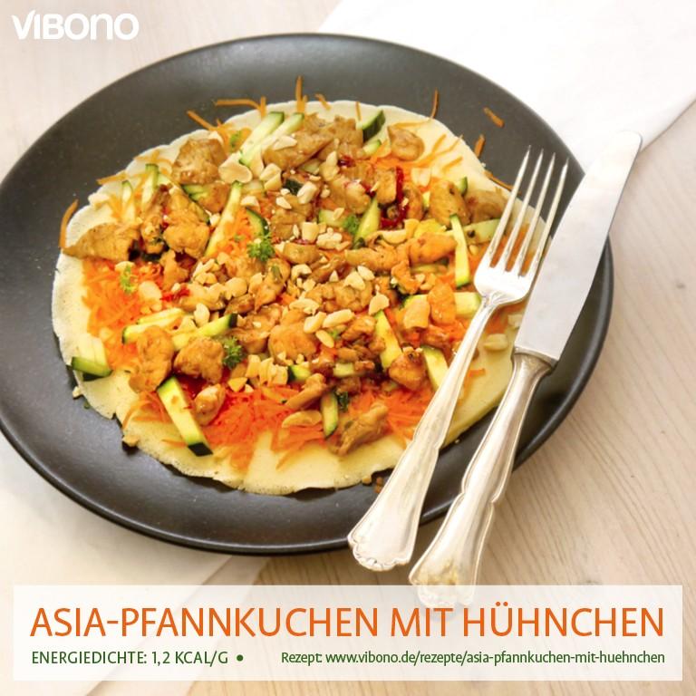 Asia-Pfannkuchen mit Hühnchen