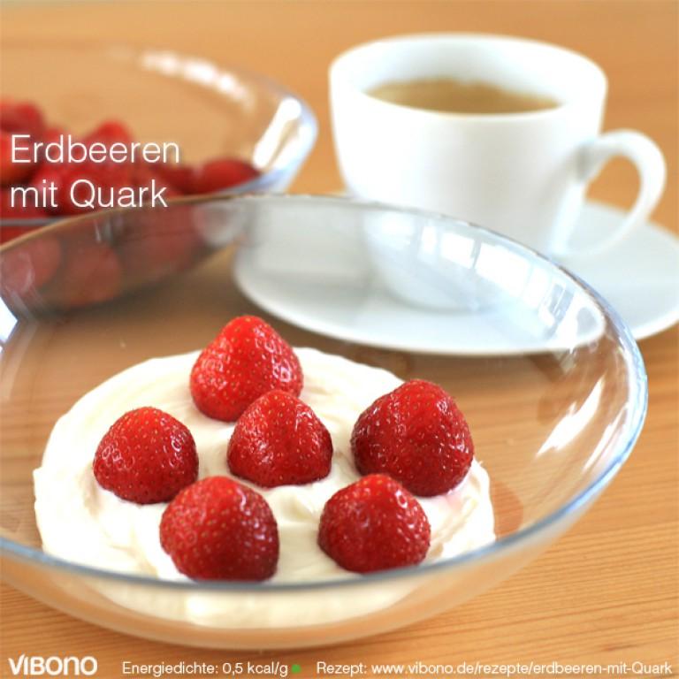 Erdbeeren mit Quark
