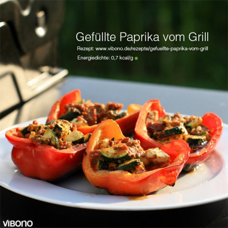 Gefüllte Paprika vom Grill