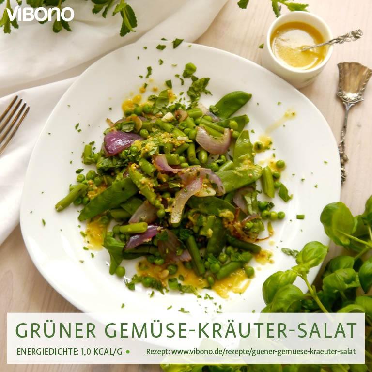 Grüner Gemüse-Kräuter-Salat