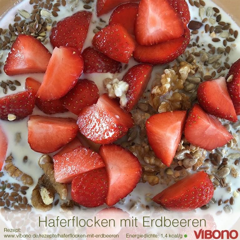 Haferflocken mit Erdbeeren