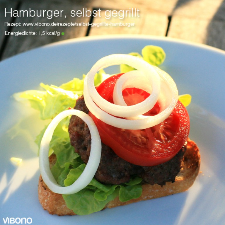 Selbst gegrillte Hamburger