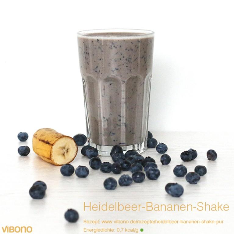 Heidelbeer-Bananen-Shake (Pur)