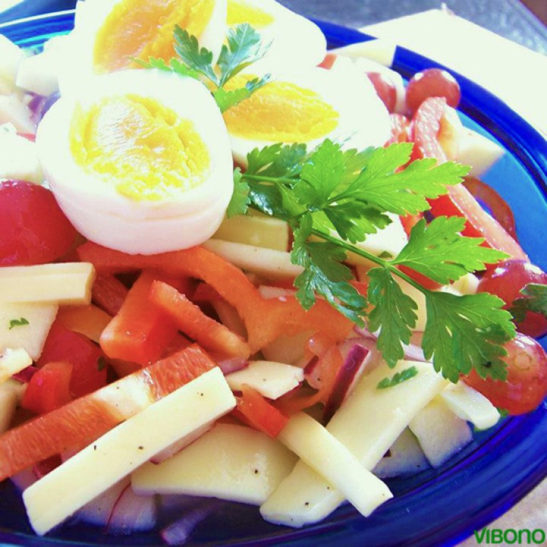 Käse-Traubensalat