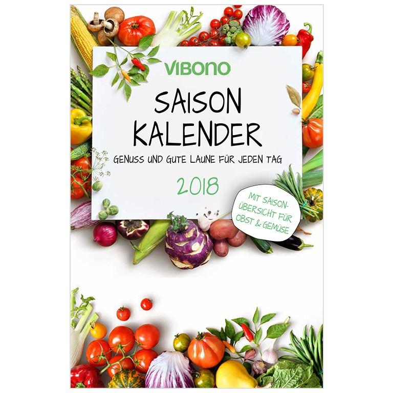 Vibono Saison-Kalender 2018