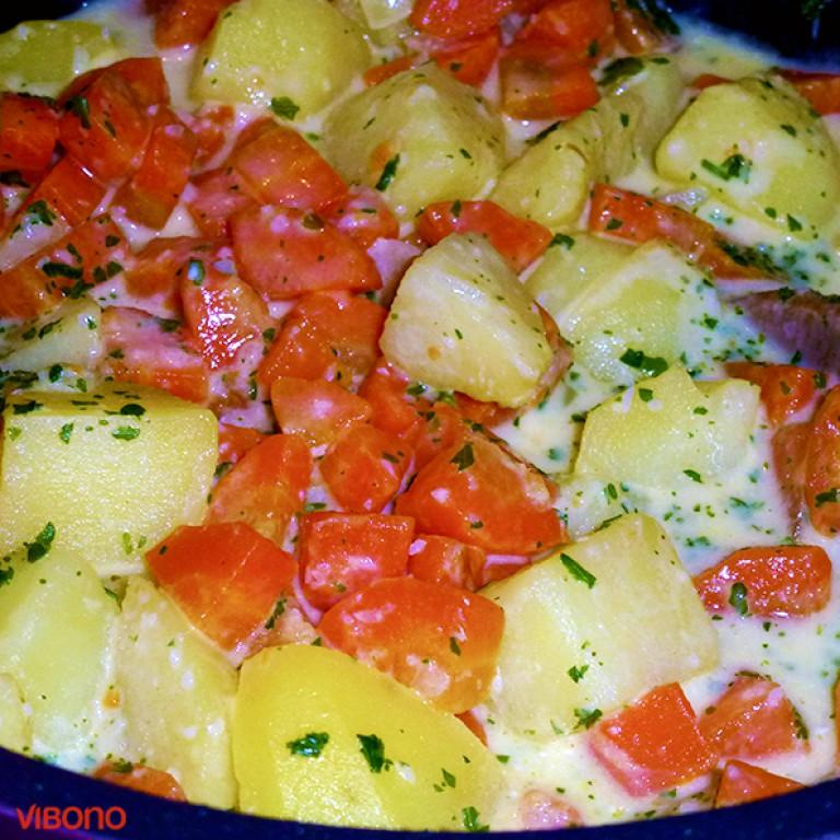 Kartoffel-Möhre-Meerrettich-Gemüse