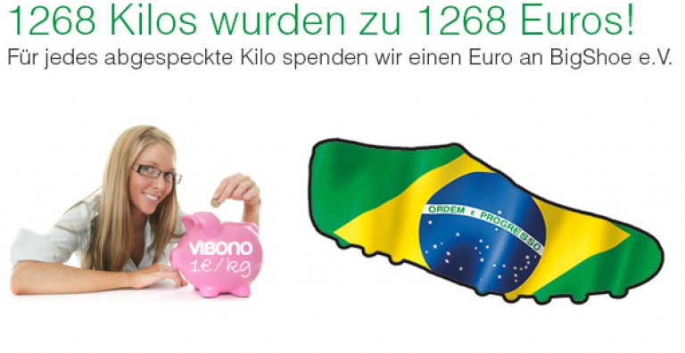 Aus Kilos wurden Euros: Vibono spendet 1268 € für BigShoe