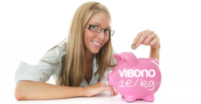 Andrea Scherb: Minus 17 kg, Vibono spendet 17 €