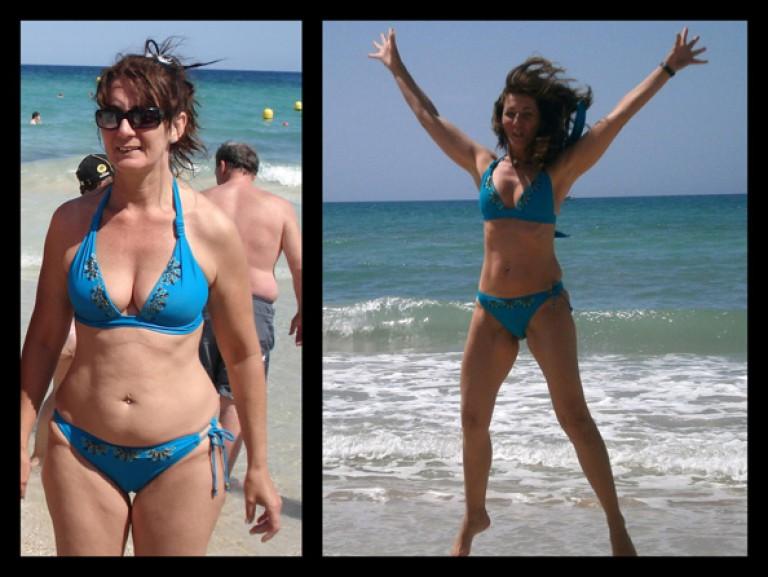 Luftsprünge im Bikini