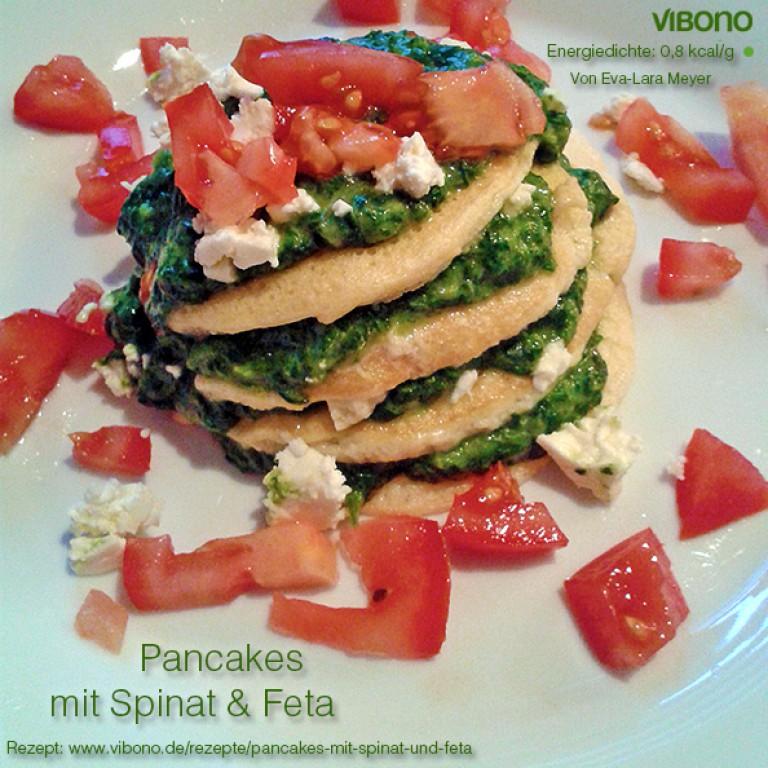 Pancakes mit Spinat & Feta
