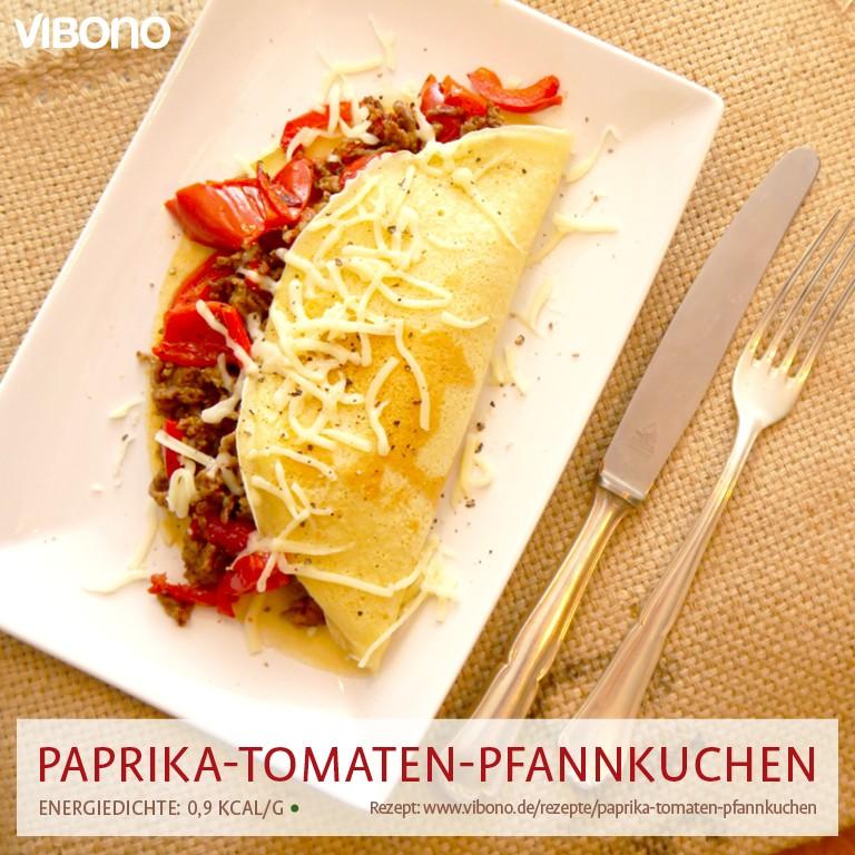 Paprika-Tomaten-Pfannkuchen