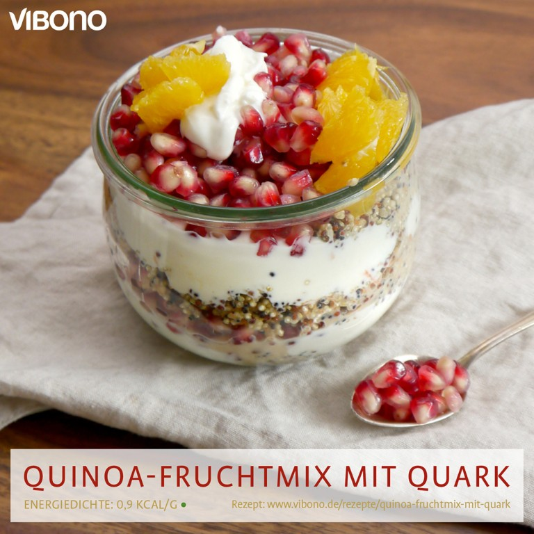 Quinoa-Fruchtmix mit Quark