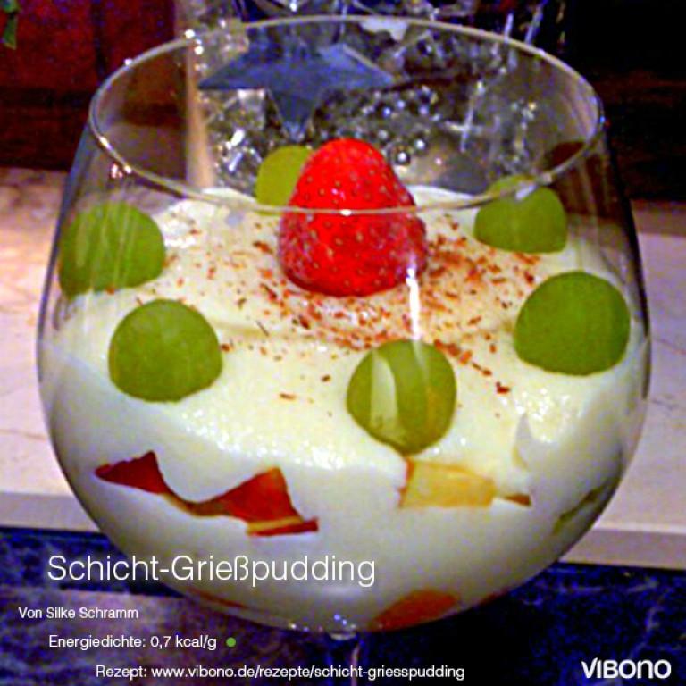 Schicht-Grießpudding