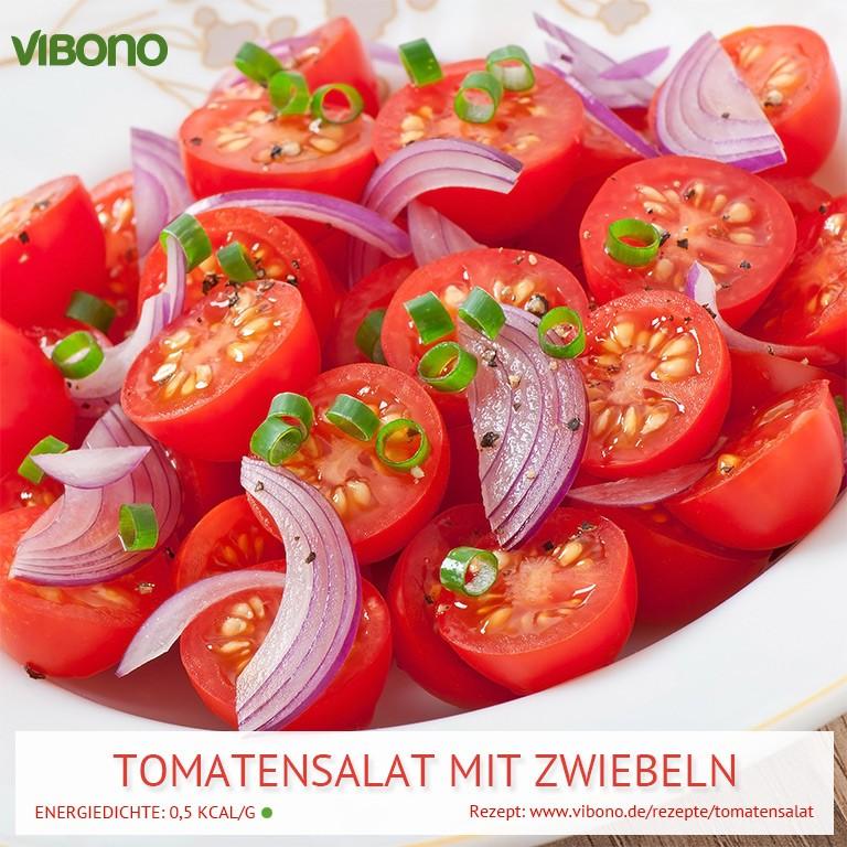 Tomatensalat mit Zwiebeln