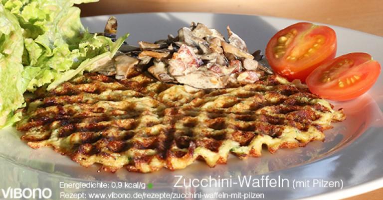 Zucchini-Waffeln (mit Pilzen)