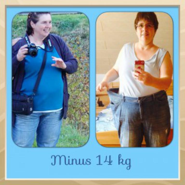 Christine Faustino: Minus 14 kg, Vibono spendet 14 €