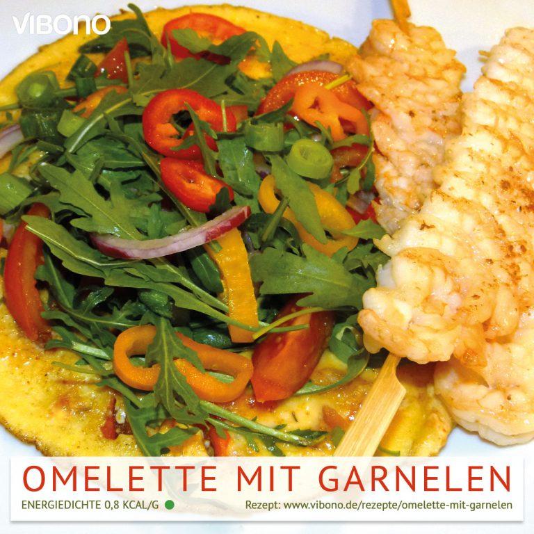 Omelette mit Garnelen