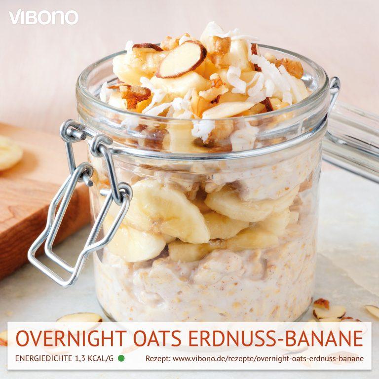 Overnight Oats Erdnuss-Banane