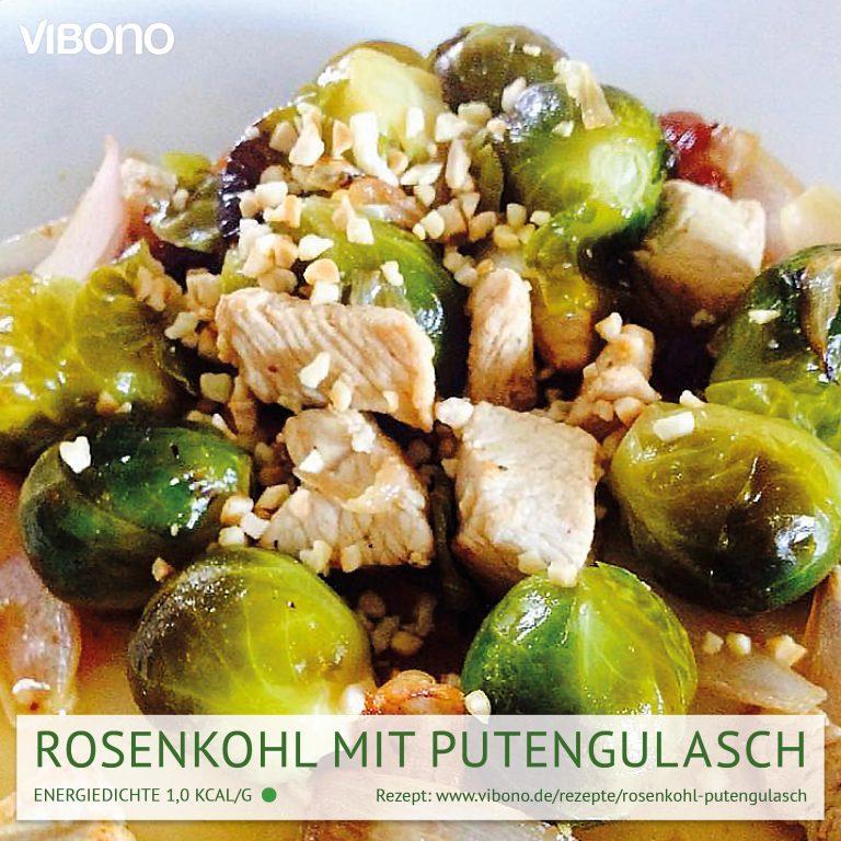 Rosenkohl mit Putengulasch