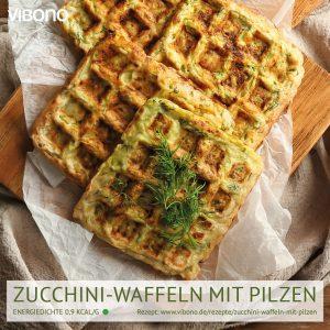 Zucchini-Waffeln mit Pilzen