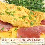 Kräuter-Omelett mit Parmaschinken