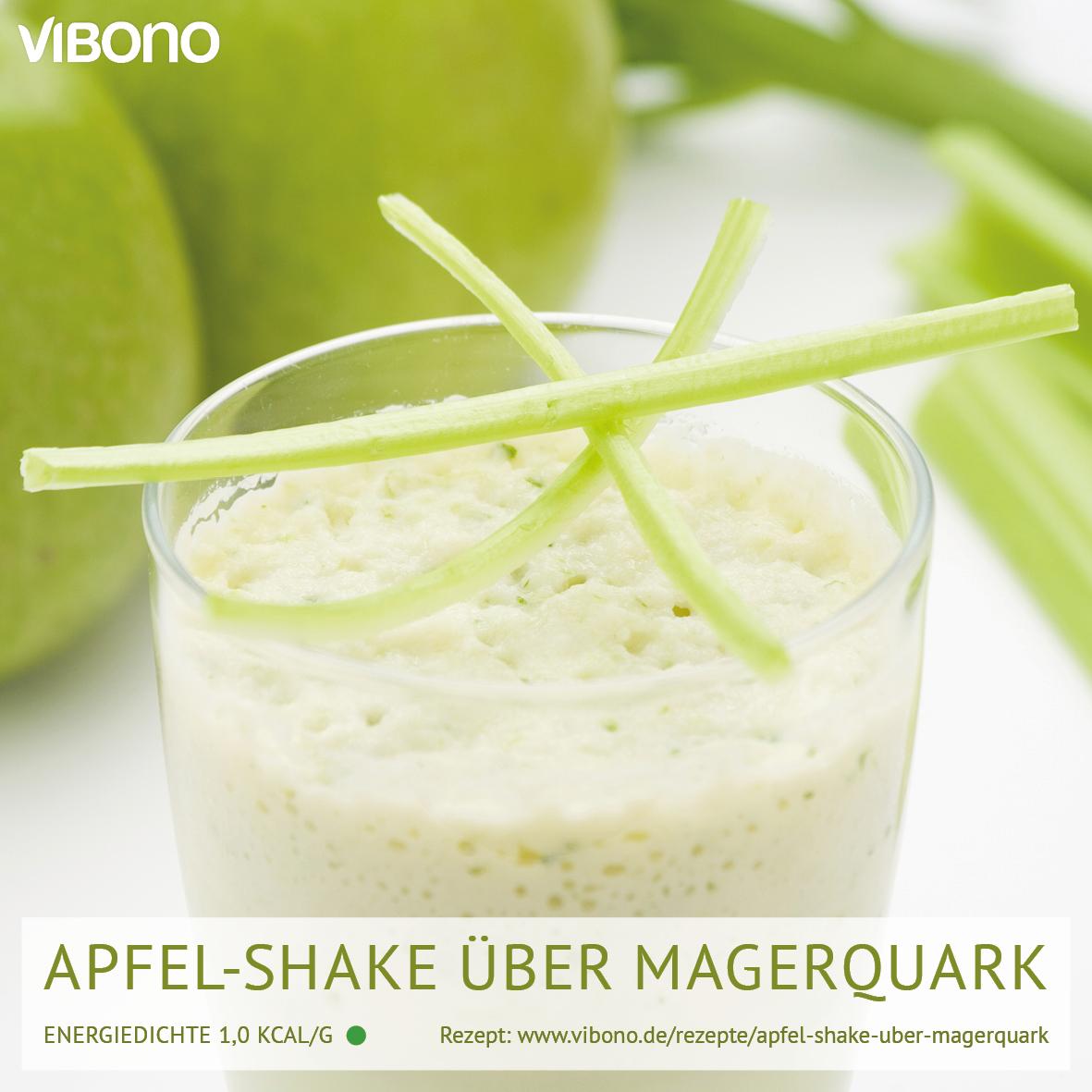 Apfel-Shake über Magerquark