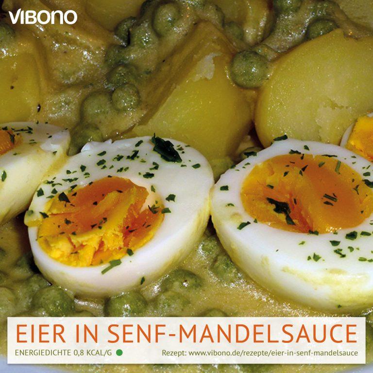 Eier in Senf-Mandelsauce