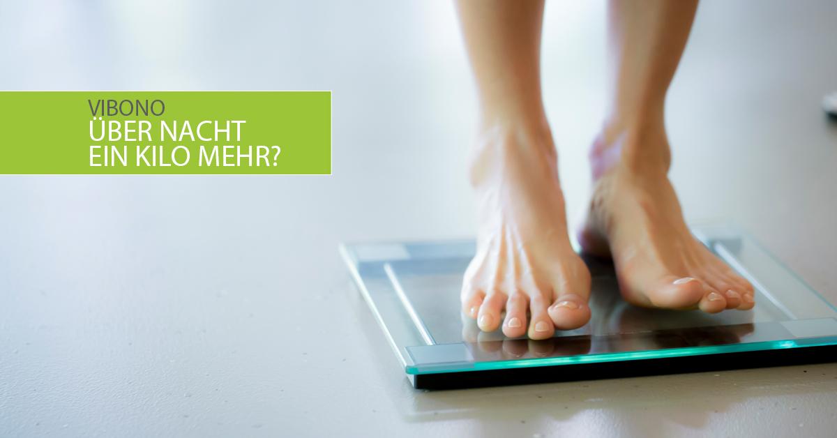 Über Nacht 1 kg mehr. Was mache ich falsch?