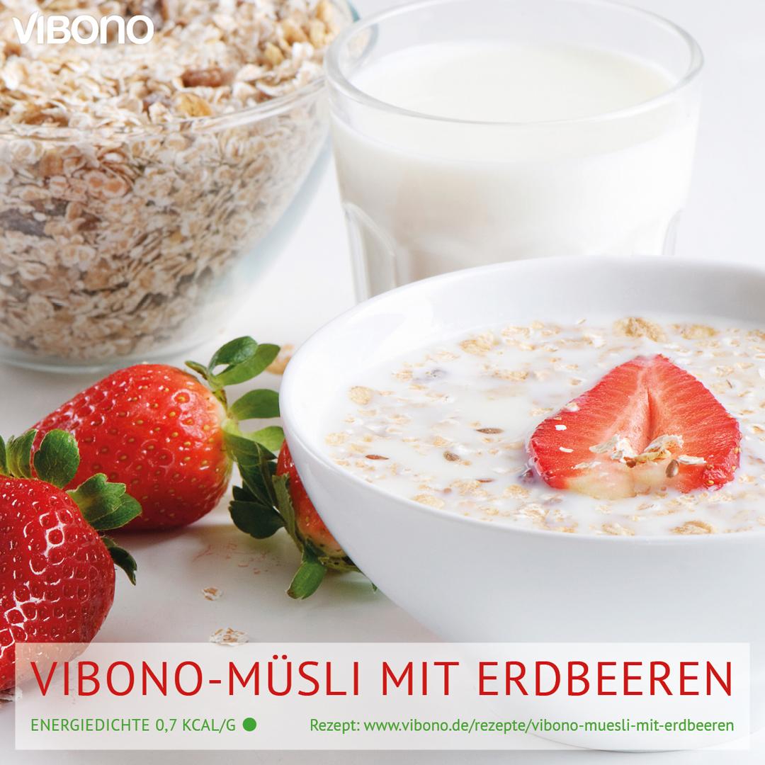 Vibono-Müsli mit Erdbeeren