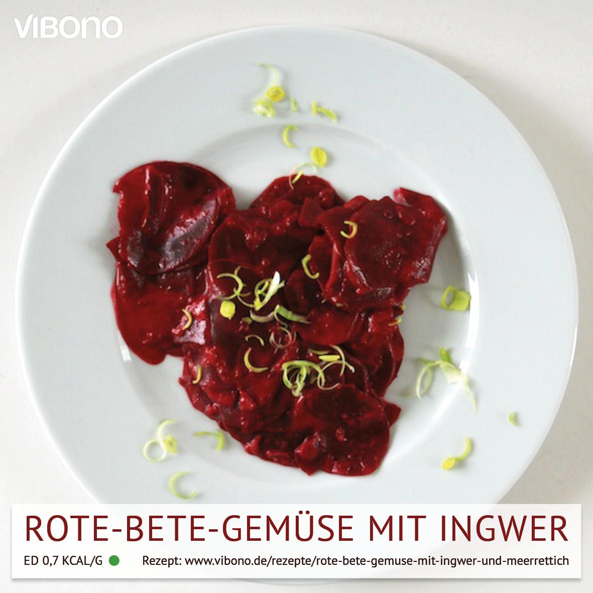 Rote Bete-Gemüse mit Ingwer und Meerrettich