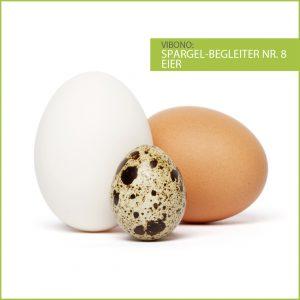 Eier, harmonischer Spargelbegleiter Nr. 8