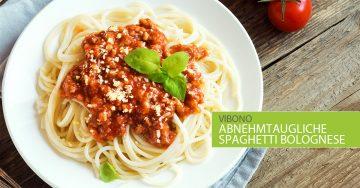 Abnehmtaugliche Spaghetti Bolognese