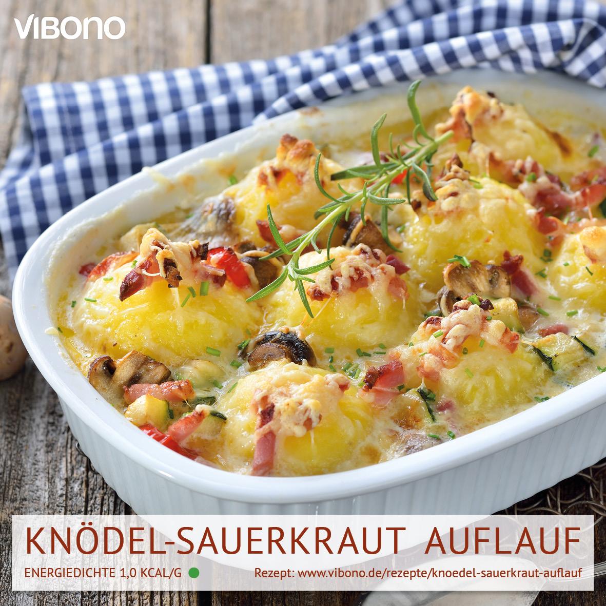 Knödel-Sauerkraut Auflauf