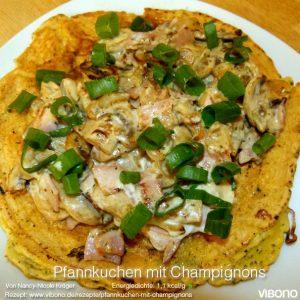 Pfannkuchen mit Champignons