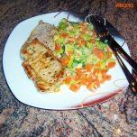 Minutensteak mit Karotten-Lauchgemüse