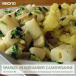 Spargel in Koriander-Cashewsahne
