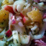Fenchelsalat mit Äpfeln, Orangen und Zwiebeln