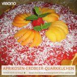 Aprikosen-Erdbeer-Quarkkuchen