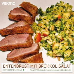 Entenbrust mit Brokkolisalat
