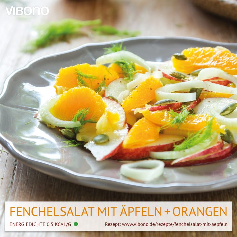 Fenchelsalat mit Äpfeln und Orangen