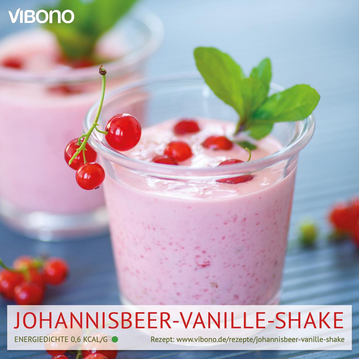 Johannisbeer-Vanille-Shake