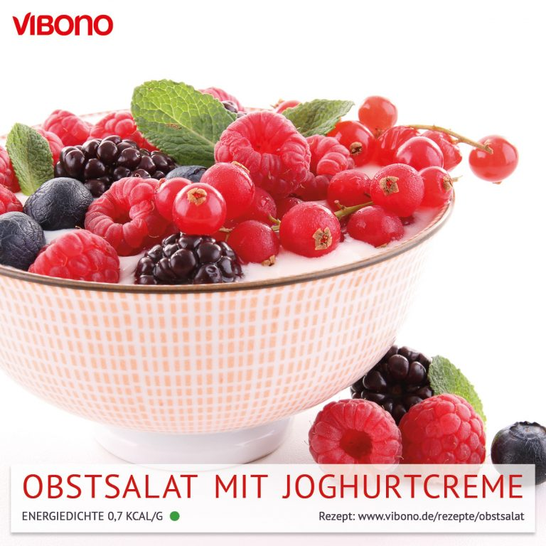 Obstsalat mit Joghurtcreme
