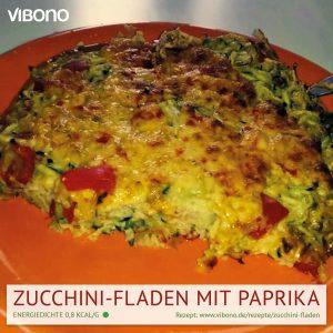 Zucchini-Fladen mit Paprika