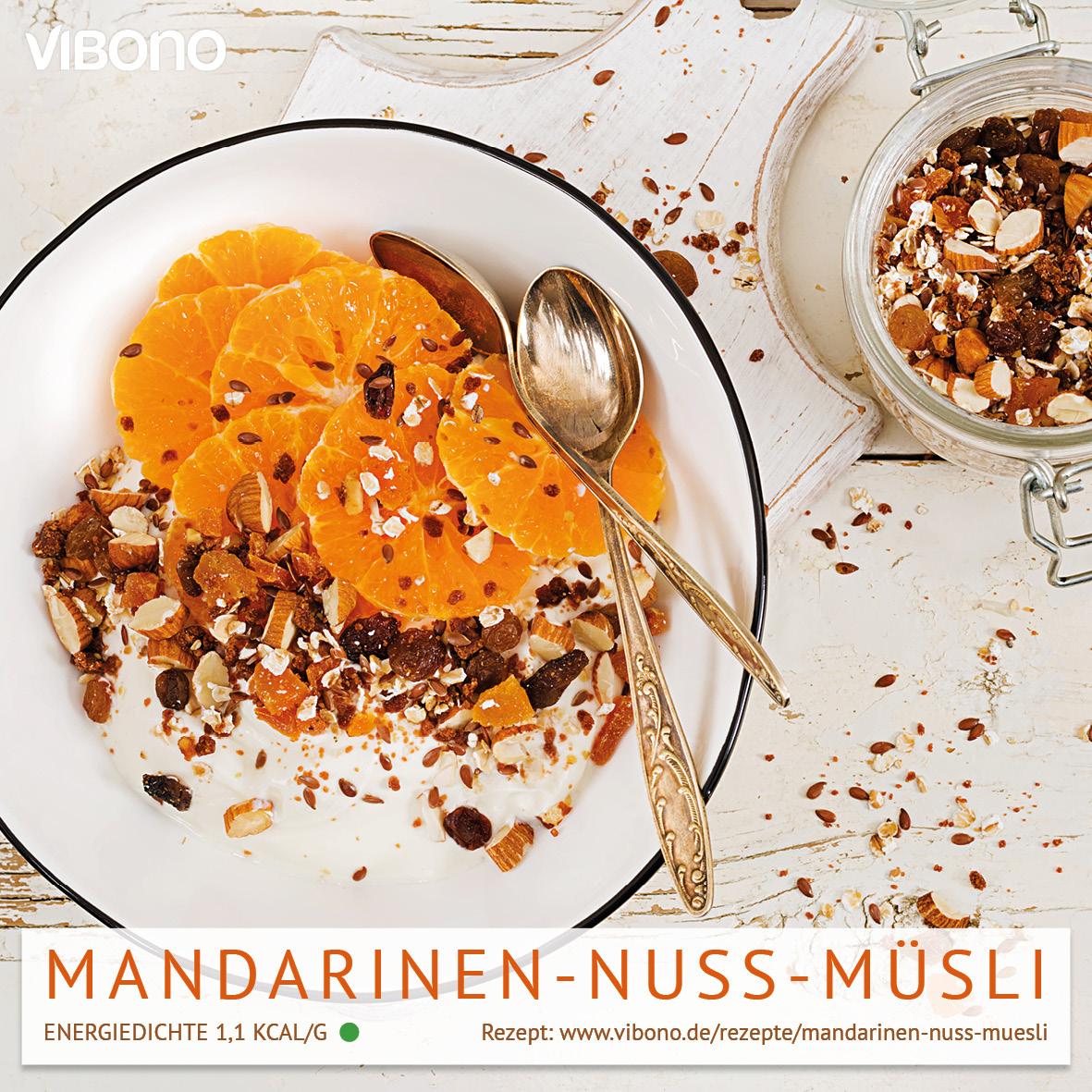 Mandarinen-Nuss-Müsli