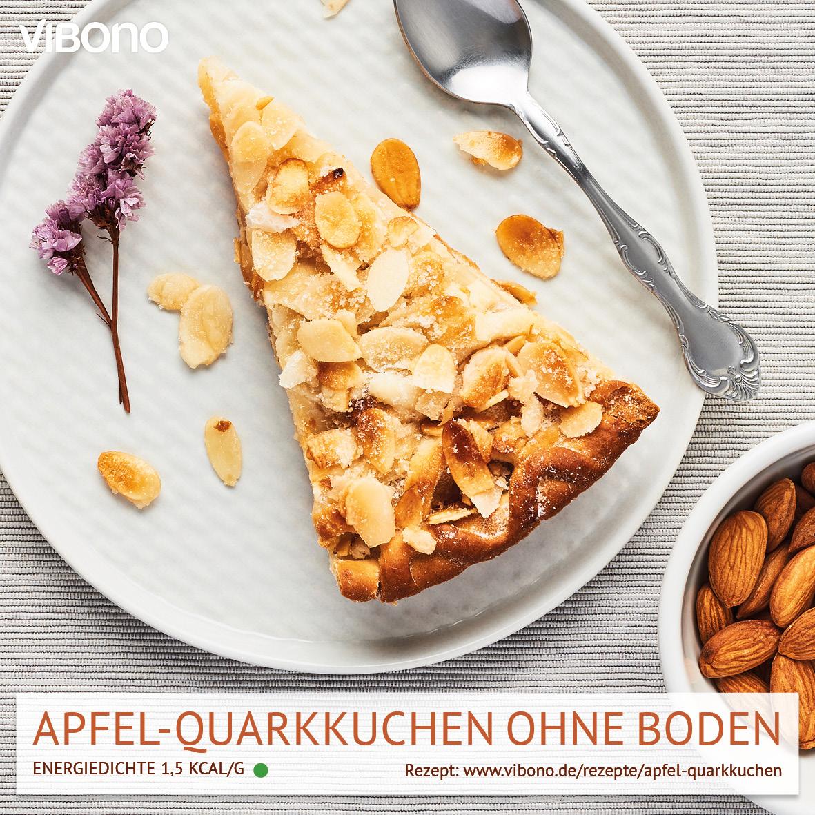 Apfel-Quarkkuchen ohne Boden
